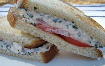 feta basil sandwich