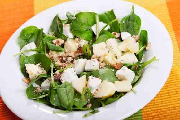 Spinach-Pear-Salad